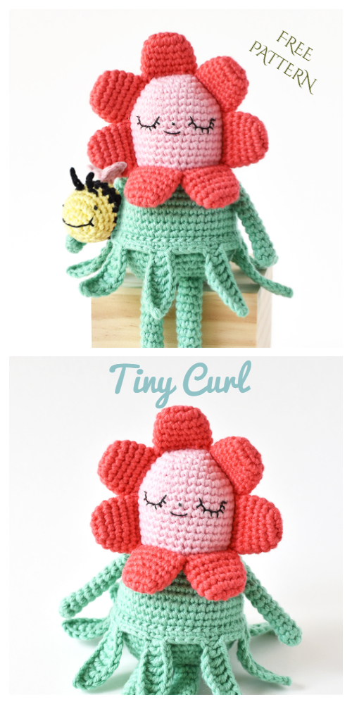 Crochet Little Flower Doll Amigurumi Free Patterns