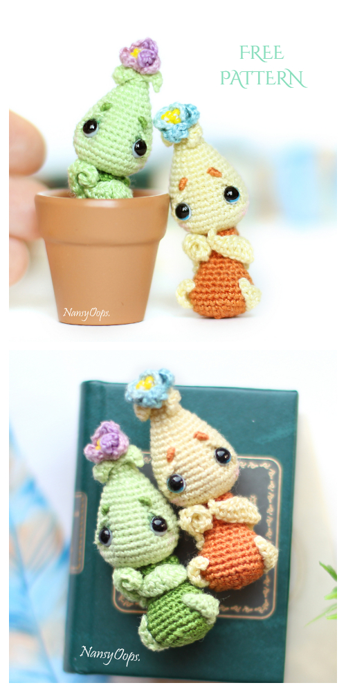 Crochet Little Onion Flower Doll Amigurumi Free Patterns