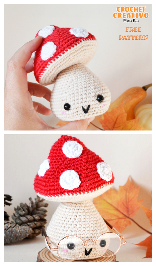 Crochet Mushroom Doll Amigurumi Free Pattern