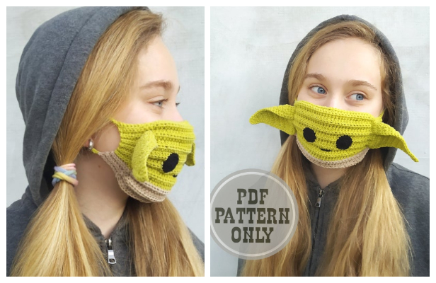 Fun Baby Yoda Alein Face Mask Crochet Patterns