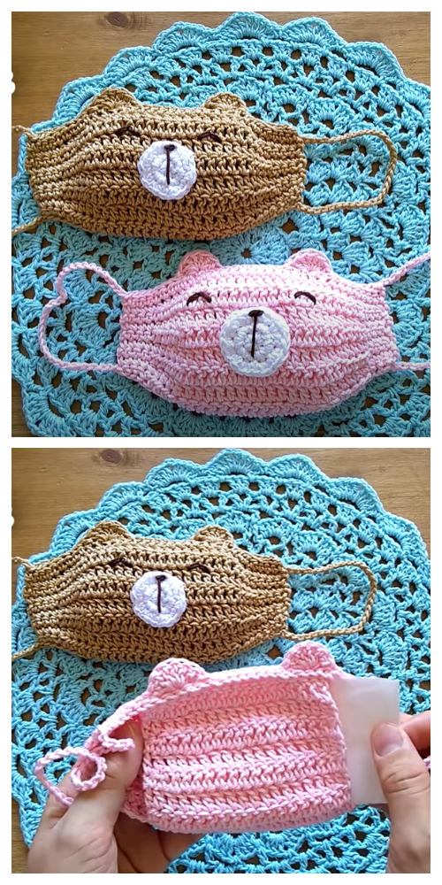 Fun Bear Animal Face Mask Free Crochet Patterns + Video