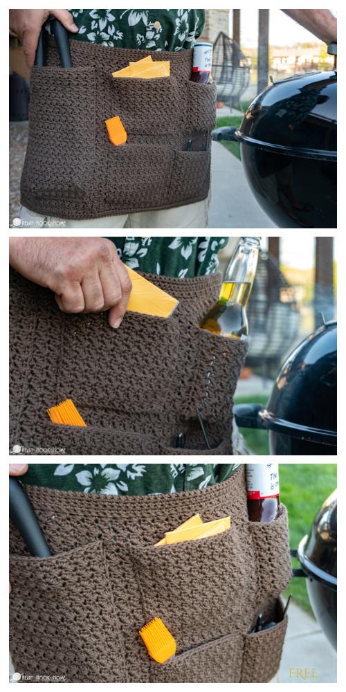 Grilling Apron Free Crochet Patterns