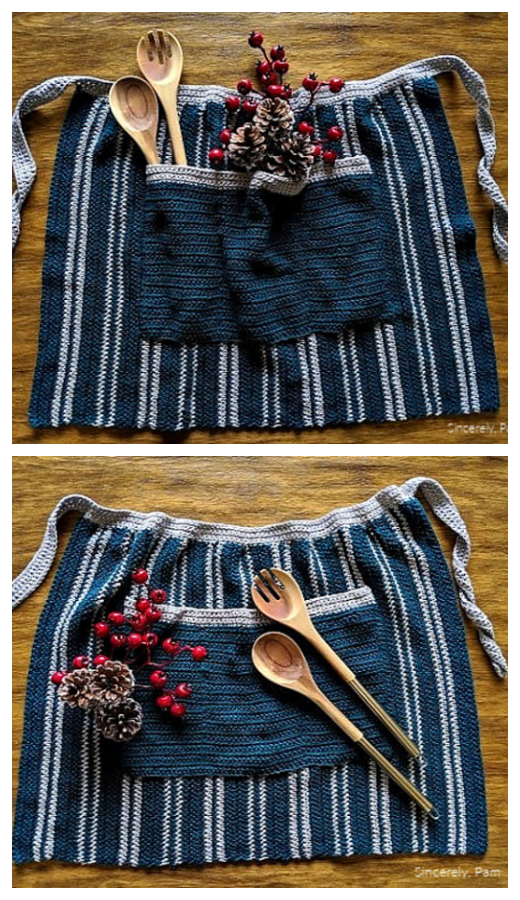Farmhouse Kitchen Apron Free Crochet Patterns