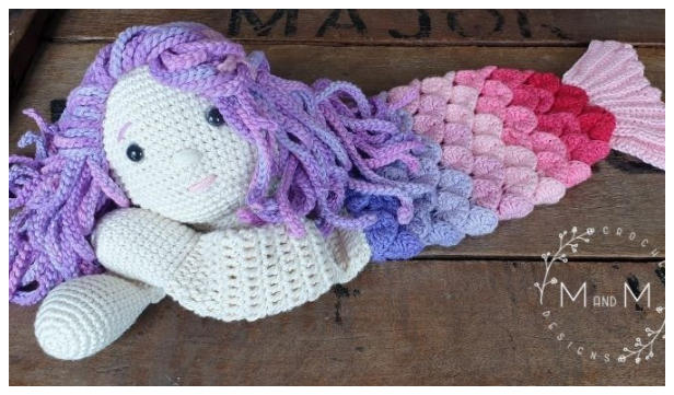 Mermaid Ragdoll Free Crochet Pattern
