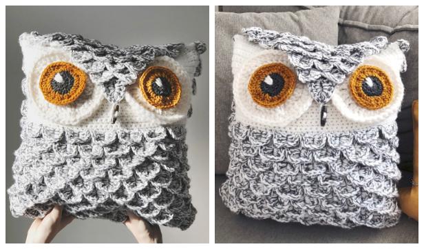 Owl Pillow Free Crochet Pattern & Paid