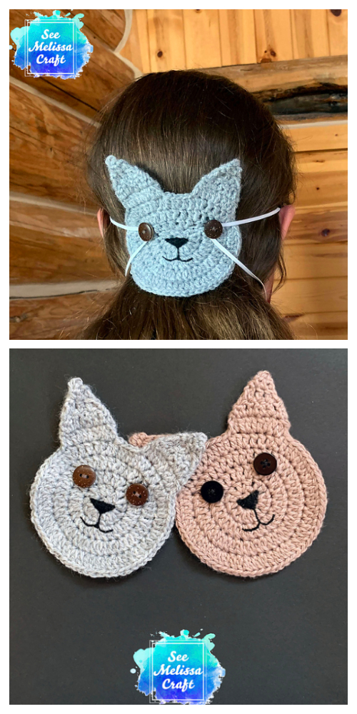 Cat Face Mask Mate Free Crochet Patterns
