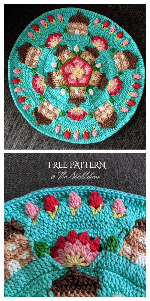 Scrap Yarn Safer At Home Mandala Free Crochet Patterns