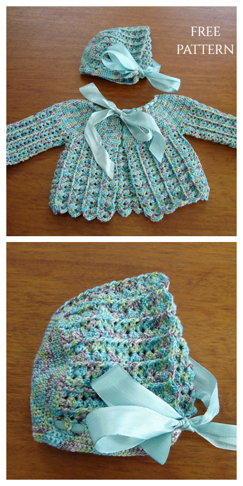 Shell Baby Outfit Set Free Crochet Patterns