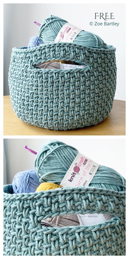 Spike Basket Free Crochet Pattern