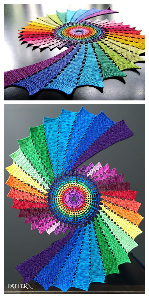 Spiral Fractal Doily Crochet Pattern + Video
