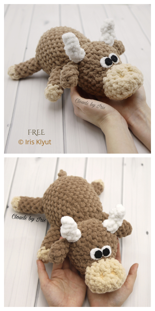Amigurumi Mini Bull Toy Free Crochet Patterns