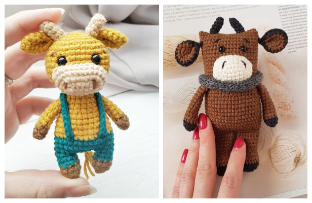 Amigurumi Bull Toy Free Crochet Patterns