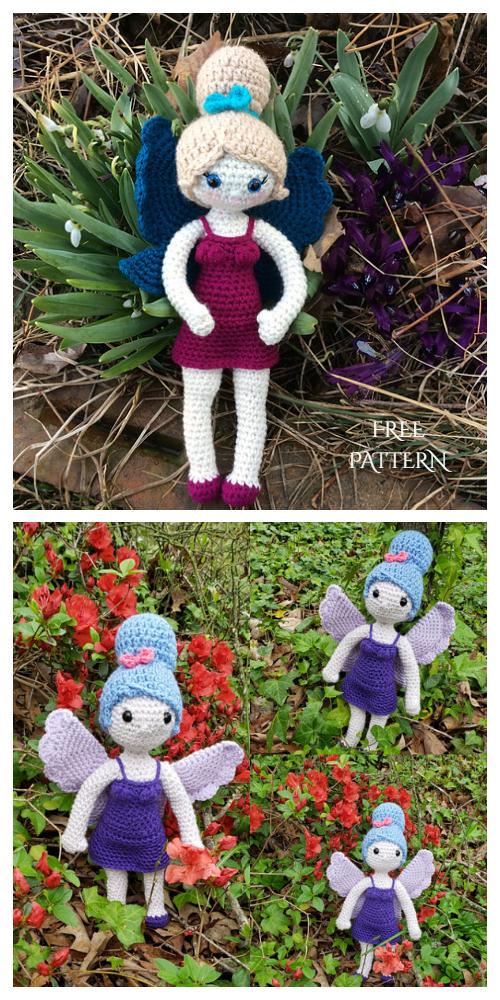 Amigurumi Neona the Fairy Doll Free Crochet Patterns