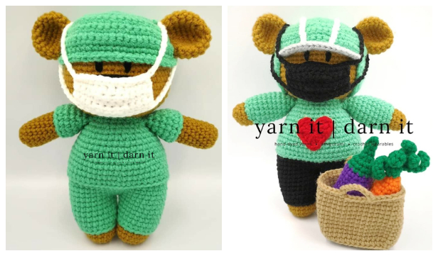 Amigurumi Frontline Hero Bear Free Crochet Pattern + Video
