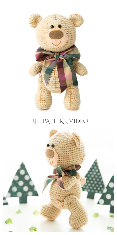 Amigurumi Teddy Bear Free Crochet Pattern + Video