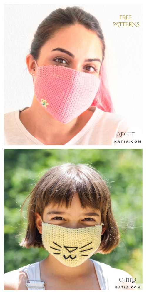 Customized Face Mask Free Crochet Patterns Adult + Kids