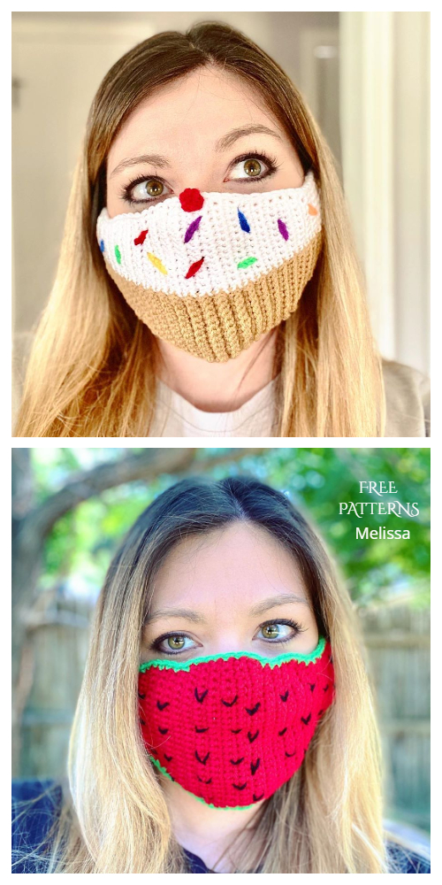 Fun Face Mask Free Crochet Patterns Adult + Kids