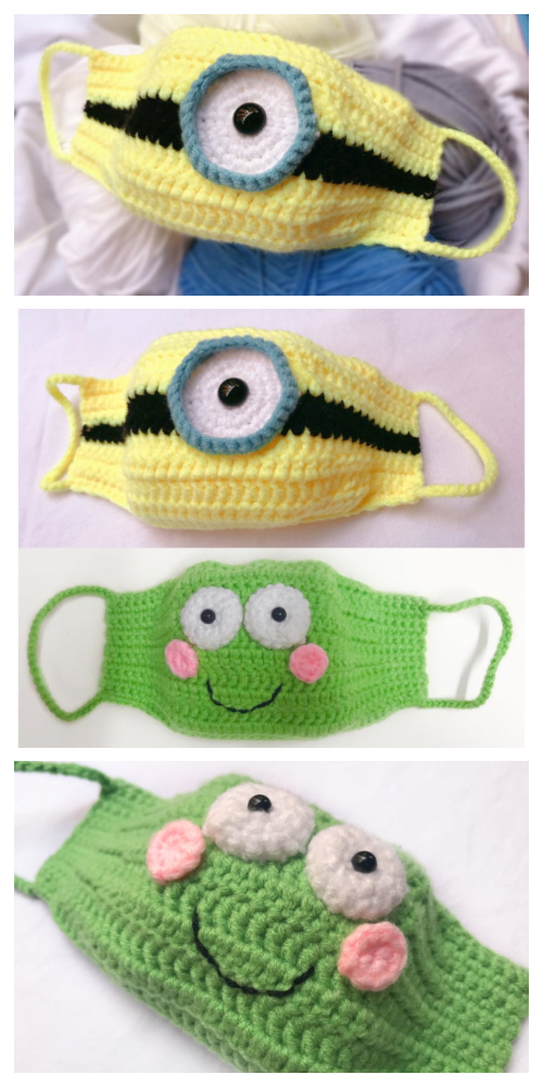Minion and Frog Mask Free Crochet Patterns Video Tutorial
