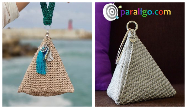 Pyramid Clutch Pouch Free Crochet Patterns + Video