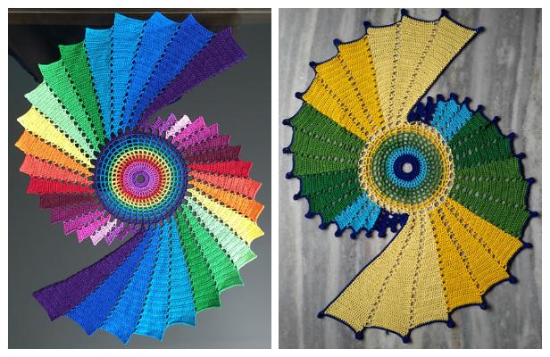 Spiral Fractal Doily Crochet Pattern + Video
