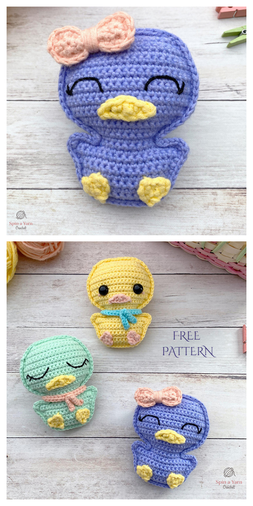 Amigurumi Spring Duck Free Crochet Patterns