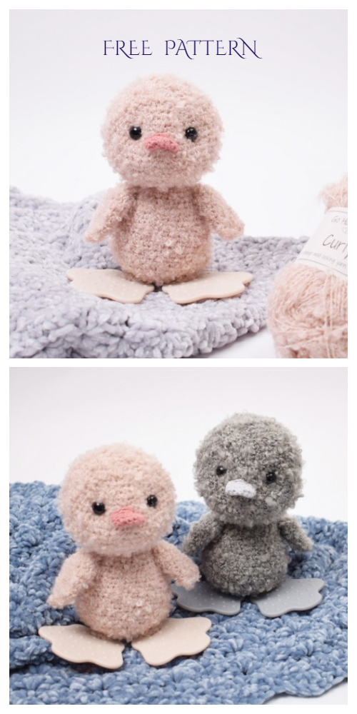 Amigurumi Spring Curly Baby Duckling Free Crochet Patterns
