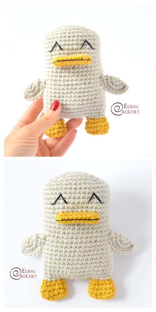 Amigurumi Spring Squeak the Duck Crochet Patterns