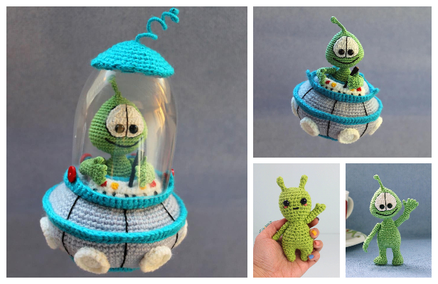 Amigurumi Little Martian Space Alien Free Crochet Patterns