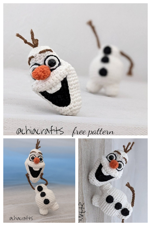 Amigurumi Olaf Free Crochet Patterns
