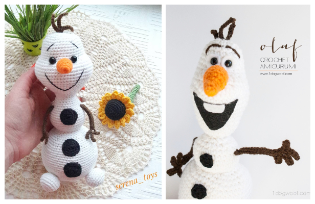 Amigurumi Olaf the Snowman Free Crochet Patterns