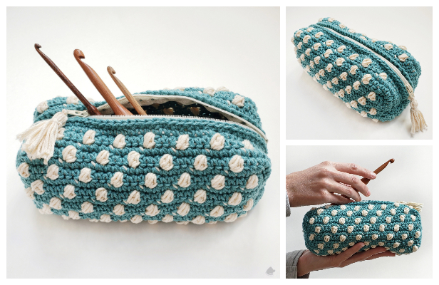 Bobble Notions Bag Free Crochet Pattern