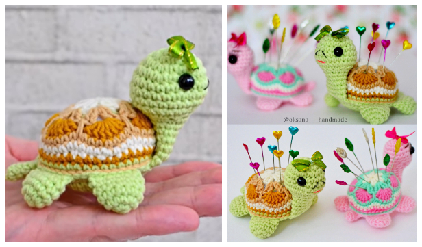 Crochet African Flower Turtle Amigurumi Free Pattern + Video