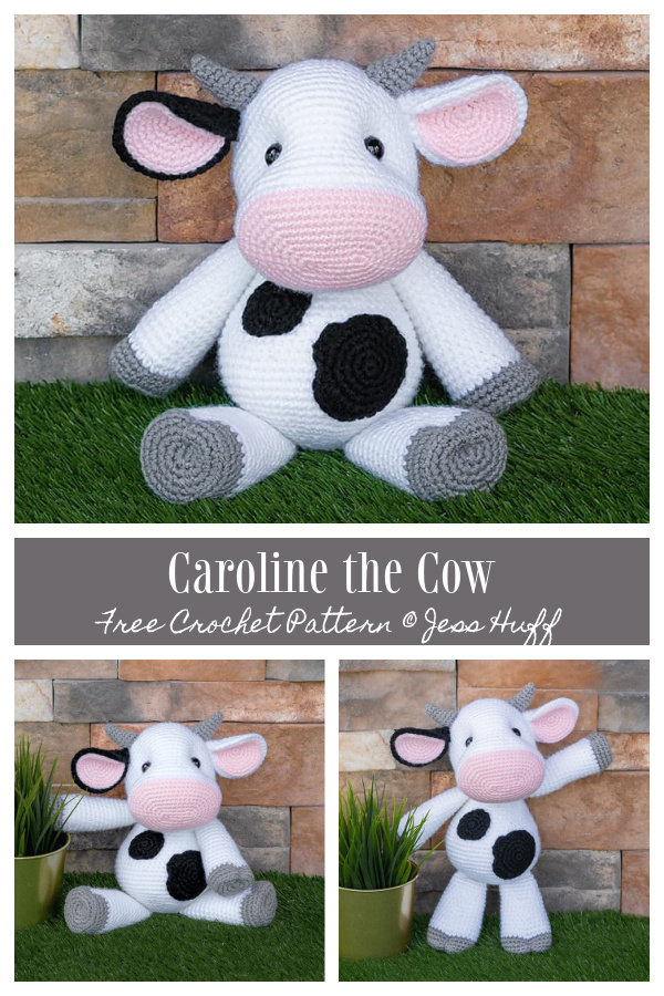 Crochet Caroline the Cow Amigurumi Free Patterns