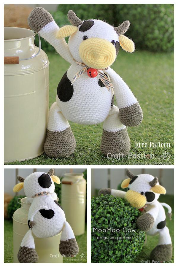Crochet MooMoo Cow Amigurumi Free Patterns