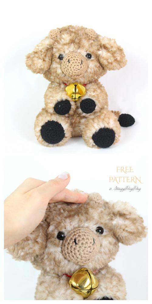 Crochet Fuzzy Cow Amigurumi Free Patterns