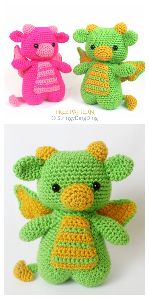 Crochet Dragon Amigurumi Free Patterns
