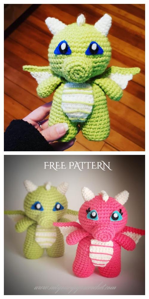 Koji the Baby Dragon Amigurumi Crochet toy pattern PDF in 2020 ... | 1000x500