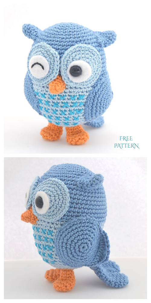 Crohcet Jip the owl Amigurumi Free Pattern + Video