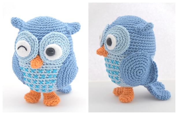 Crohcet Jip the owl Amigurumi Free Pattern + Video