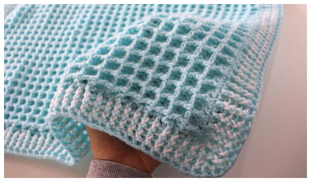 Easy Waffle Baby Blanket Free Crochet Pattern + Video