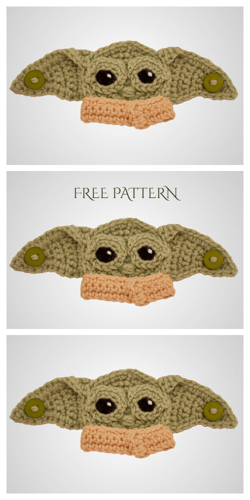 Baby Alien Mask Mates Ear Saver Free Crochet Patterns