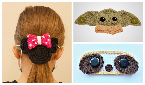 Fun Face Mask Mate Ear Saver Free Crochet Patterns