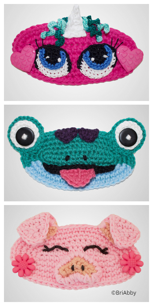 Fun Animal Face Mask Ear Saver Free Crochet Patterns & Paid