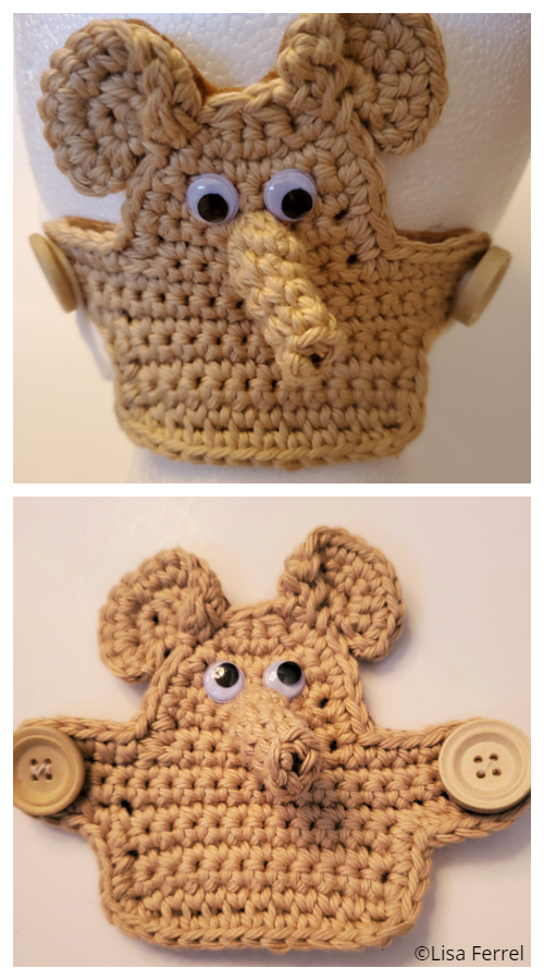 Fun Elephant Face Mask Ear Saver Free Crochet Patterns