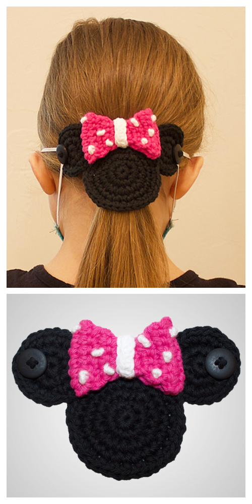 Mouse Mask Mates Ear Savers Free Crochet Patterns