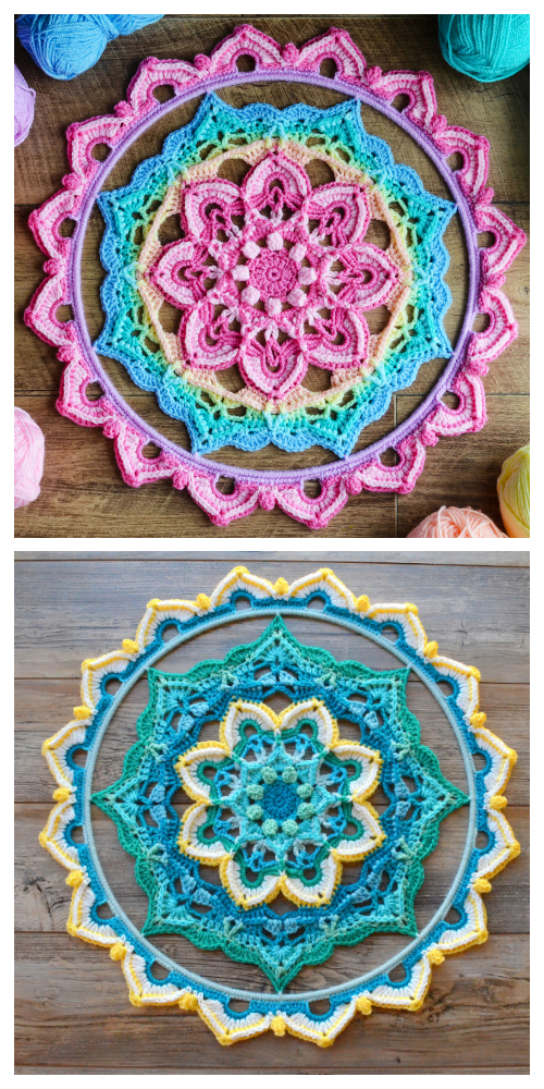 Hope Mandala Free Crochet Patterns