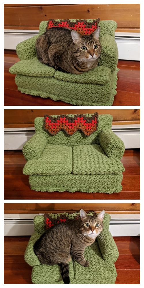Kitty Couch Bed Crochet Patterns