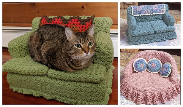 Crochet Pet Cat Bed Free Pattern | 361x616