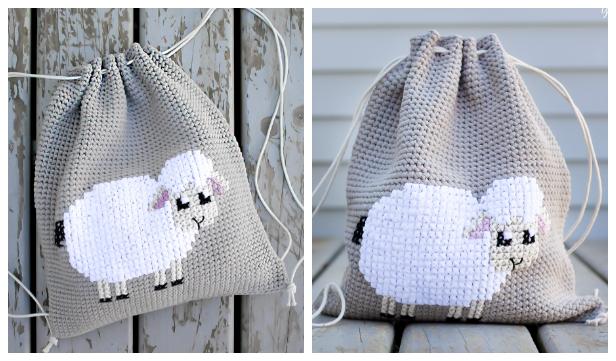 Lamb Backpack Free Crochet Pattern