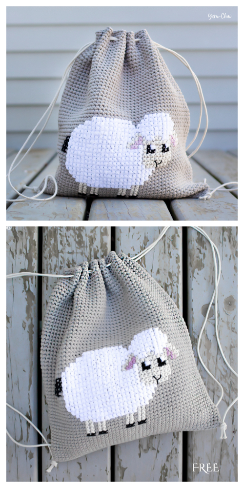 Lamb Backpack Free Crochet Pattern